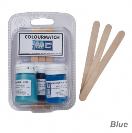Blue Gee 20g Gelcoat Colourmatch Pigments - 3 Pack